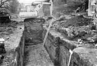 Picture of the entrance lock being excavated