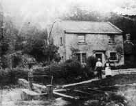 Old photograph of the lock-keeper's cottage